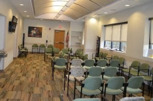 Tour Our Clinic - Waiting room at Allentown Women's Center abortion clinic in PA